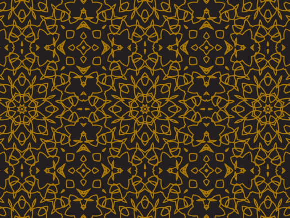 Pattern Gold Spread Ornaments Graphic By Silkymilkycreative