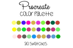 Procreate Color Palette Graphic Add-ons By SweetDesign