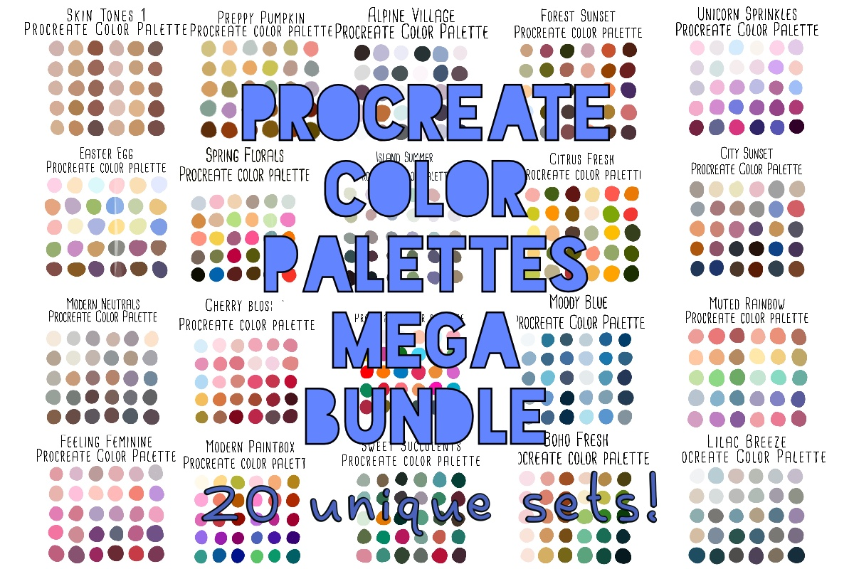 Procreate Color Palettes Mega Bundle Free Download