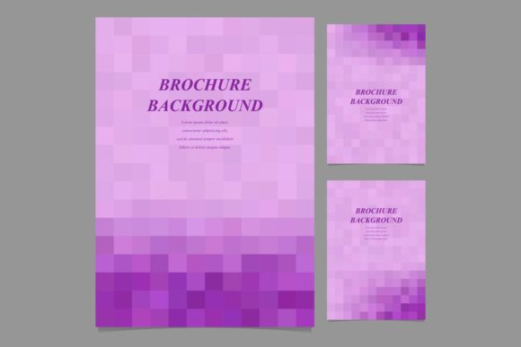 Download Free Purple Brochure Backgrounds Graphic By Davidzydd Creative Fabrica for Cricut Explore, Silhouette and other cutting machines.