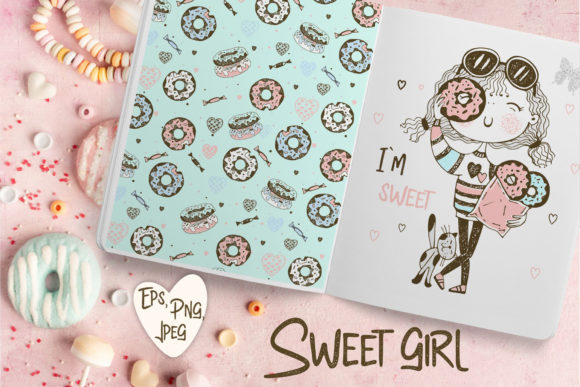 Sweet Girl. Graphic Illustrations By grigaola