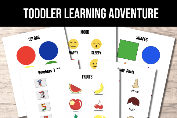 Print on Demand: Toddler Learning Adventure Graphic Print Templates By AscendPrints