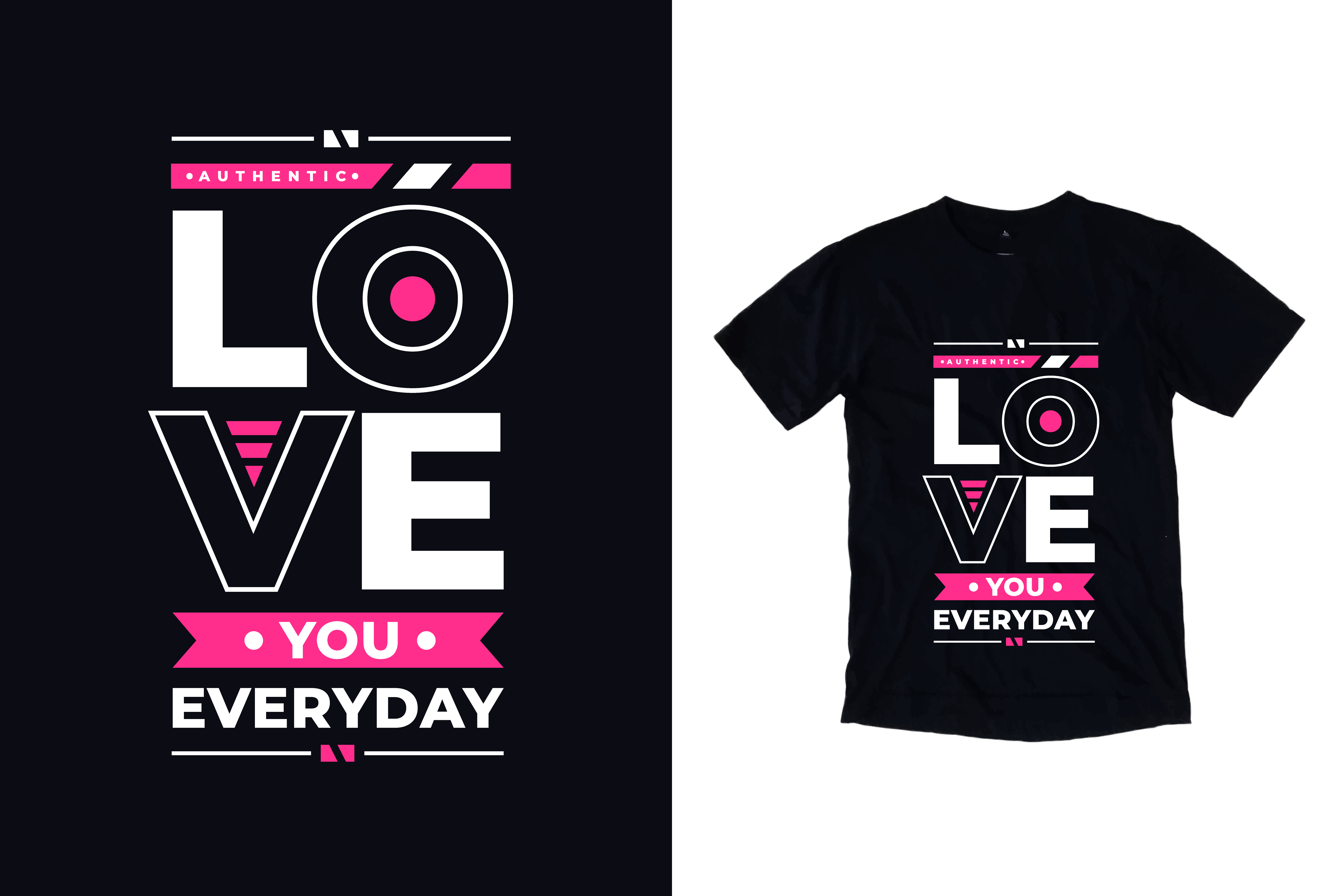 Download Free T Shirt Love You Everyday Quotes Graphic By Yazriltri Creative for Cricut Explore, Silhouette and other cutting machines.