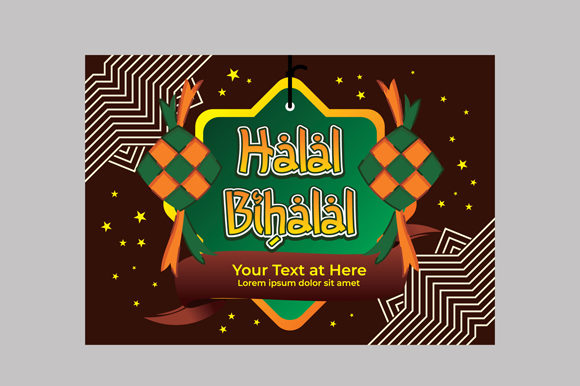 Download Free Undangan Halal Bihalal Invitation Graphic By Fatrin99art for Cricut Explore, Silhouette and other cutting machines.
