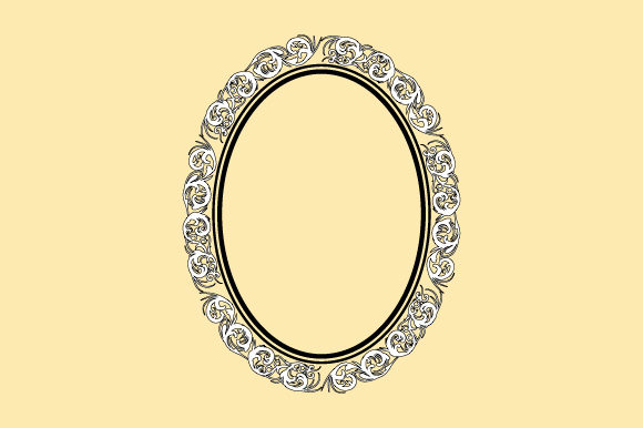 Download Free Vintage Frame Oval Scrollwork Ornament Graphic By Graphicsfarm for Cricut Explore, Silhouette and other cutting machines.