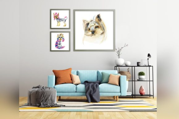 Watercolor Set. Yorkshire Terrier. Graphic Illustrations By Мария Кутузова - Image 6