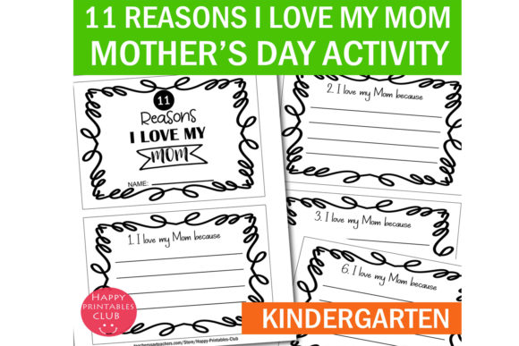 Print on Demand: 11 Reasons I Love My Mom -Mother's Day Graphic K By Happy Printables Club