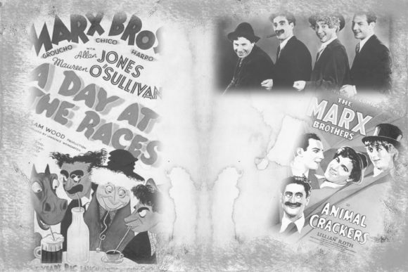 12 Black and White Movies Backgrounds (Graphic) by The