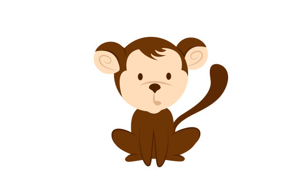 Chunky Monkey Animales Archivo de Corte Craft Por Creative Fabrica Crafts