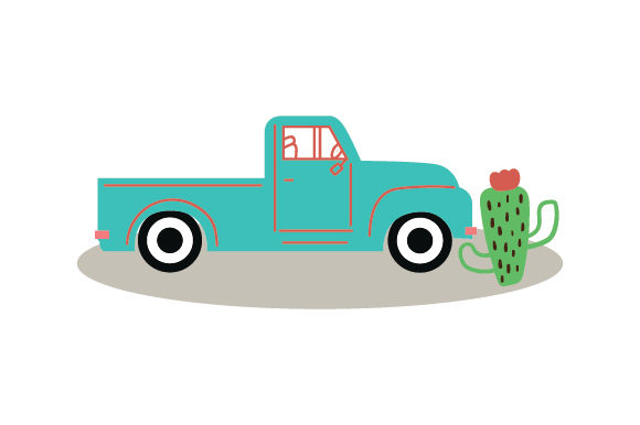 Download Free Old School Pickup Truck Cactus Svg Cut File By Creative for Cricut Explore, Silhouette and other cutting machines.