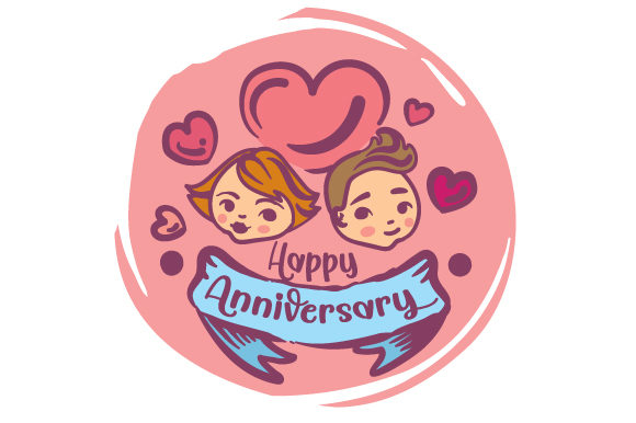 Happy Anniversary Anniversary Craft Cut File By Creative Fabrica Crafts