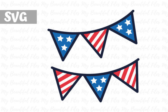 Download Free 4th Of July Banner Usa Graphic By Mybeautifulfiles Creative for Cricut Explore, Silhouette and other cutting machines.