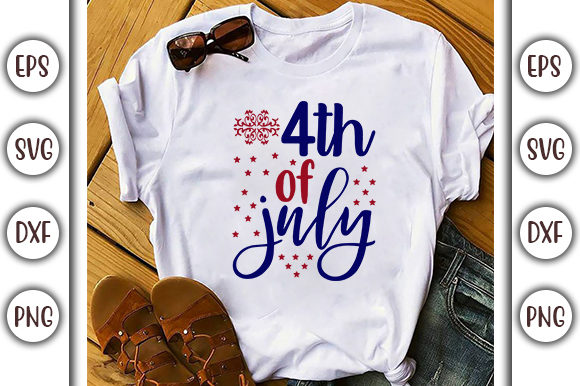 Download Free 4th Of July Design Peace Love Graphic By Graphicsbooth for Cricut Explore, Silhouette and other cutting machines.