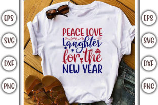 Print on Demand: 4th of July Design, Peace Love Laughter Graphic Print Templates By GraphicsBooth