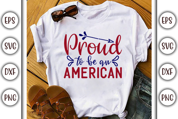 Download Free 4th Of July Design Proud Graphic By Graphicsbooth Creative for Cricut Explore, Silhouette and other cutting machines.