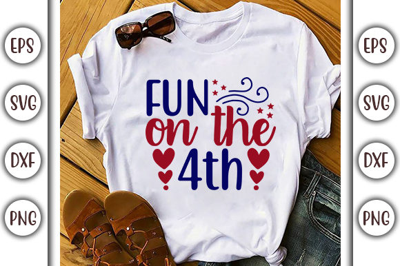 Print on Demand: 4th of July Design,  Fun on the 4th Graphic Print Templates By GraphicsBooth
