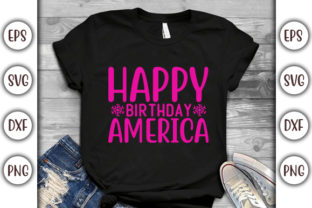 Print on Demand: 4th of July Quotes Design, Happy Graphic Print Templates By GraphicsBooth