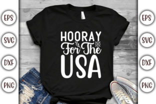 Print on Demand: 4th of July Quotes Design, Hooray Graphic Print Templates By GraphicsBooth