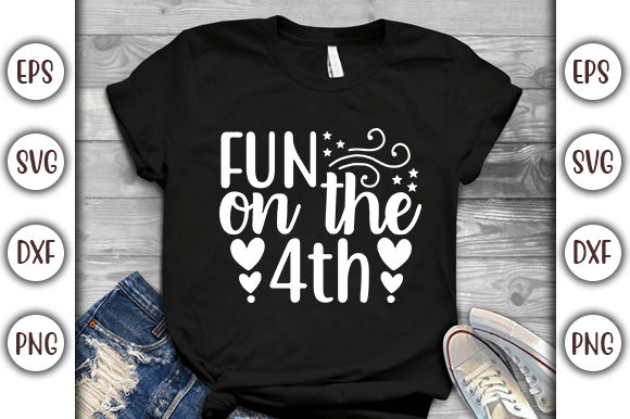 Print on Demand: 4th of July Quotes Design, Fun on the Graphic Print Templates By GraphicsBooth
