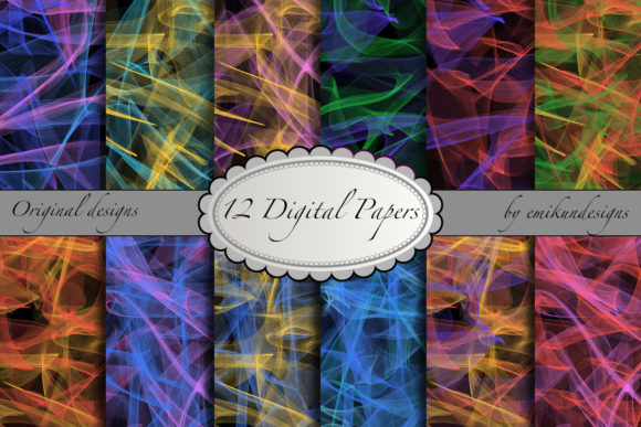 Abstract Colour Mist Patterns Graphic Textures By emikundesigns