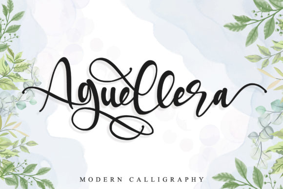 Print on Demand: Aguellera Script & Handwritten Font By thomasaradea