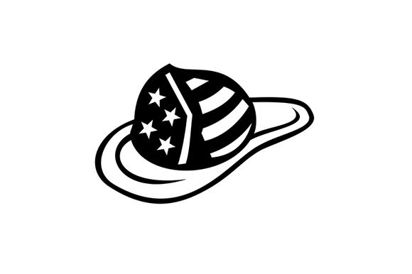 American Fireman Hat With Usa Stars Graphic By Patrimonio
