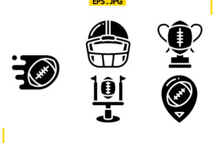 Download Free American Football Solid Graphic By Raraden655 Creative Fabrica for Cricut Explore, Silhouette and other cutting machines.