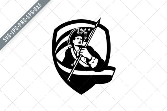 Download Free American Patriot Revolutionary Soldier Graphic By Patrimonio for Cricut Explore, Silhouette and other cutting machines.