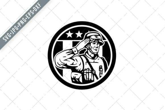 Download Free American Soldier Military Serviceman Graphic By Patrimonio for Cricut Explore, Silhouette and other cutting machines.