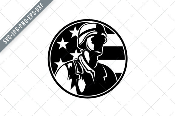 Download Free American Soldier Military Serviceman Usa Graphic By Patrimonio for Cricut Explore, Silhouette and other cutting machines.