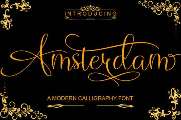Print on Demand: Amsterdam Script & Handwritten Font By Slex_studio