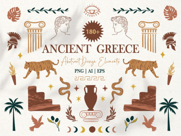 Antiquity-Greek Mythology Clipart Set Graphic Illustrations By EssentiallyNomadic