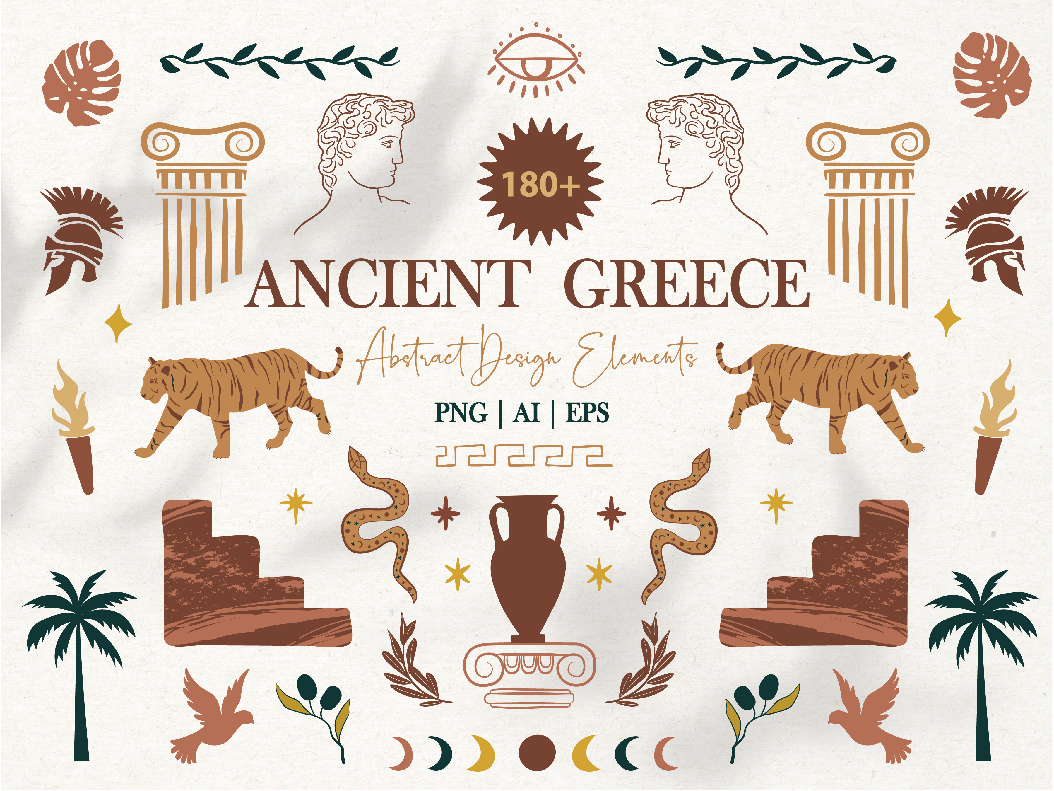 Download Free Antiquity Greek Mythology Clipart Set Graphic By SVG Cut Files
