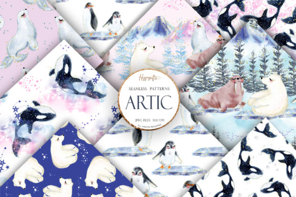 Artic Animals Patterns Graphic Patterns By Hippogifts
