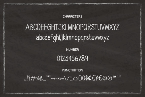 Print on Demand: Back to School Script & Handwritten Font By AquariiD - Image 3