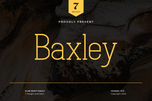 Print on Demand: Baxley Slab Serif Font By Heinzel Std
