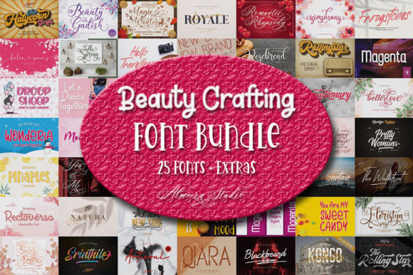 Print on Demand: Beauty Crafting Font Bundle  By Almeera Studio