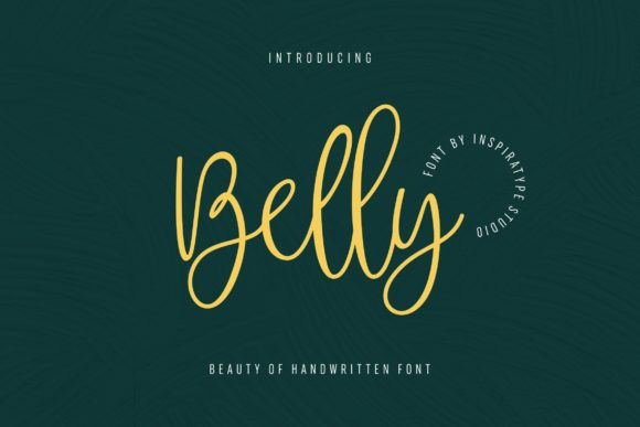 Print on Demand: Belly Script & Handwritten Font By InspiraType