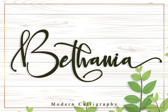 Print on Demand: Bethania Script & Handwritten Font By Stefani Letter