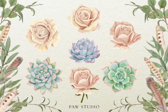 Print on Demand: Bloom & Vintage Graphic Graphic Illustrations By PawStudio - Image 3