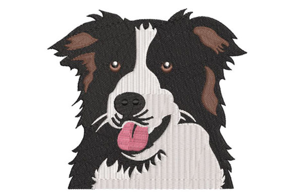 Print on Demand: Border Collie Dogs Embroidery Design By Embroidery Shelter