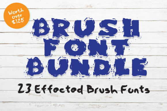 Print on Demand: Brush Font Bundle  By GraphicsBam Fonts