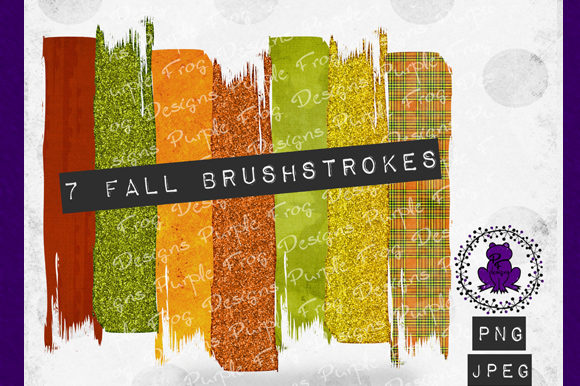 Brush Stroke - Fall Colors Clipart Graphic Backgrounds By Heather Terry