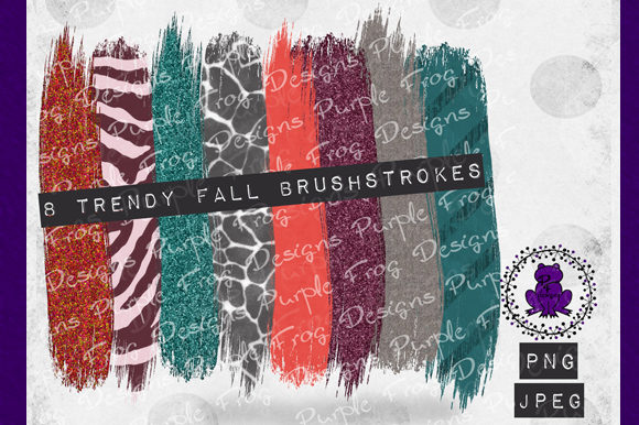 Brush Stroke - Trendy Fall Clip Art Graphic Backgrounds By Heather Terry