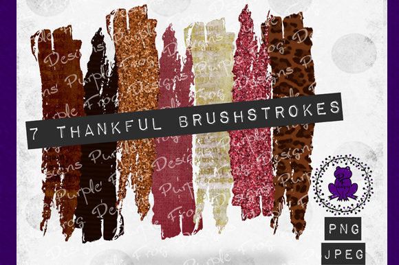 Brush Strokes - Fall Glitter Clipart Graphic Backgrounds By Heather Terry - Image 1