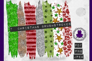 Brush Strokes - Winter Holiday Clipart Graphic Backgrounds By Heather Terry