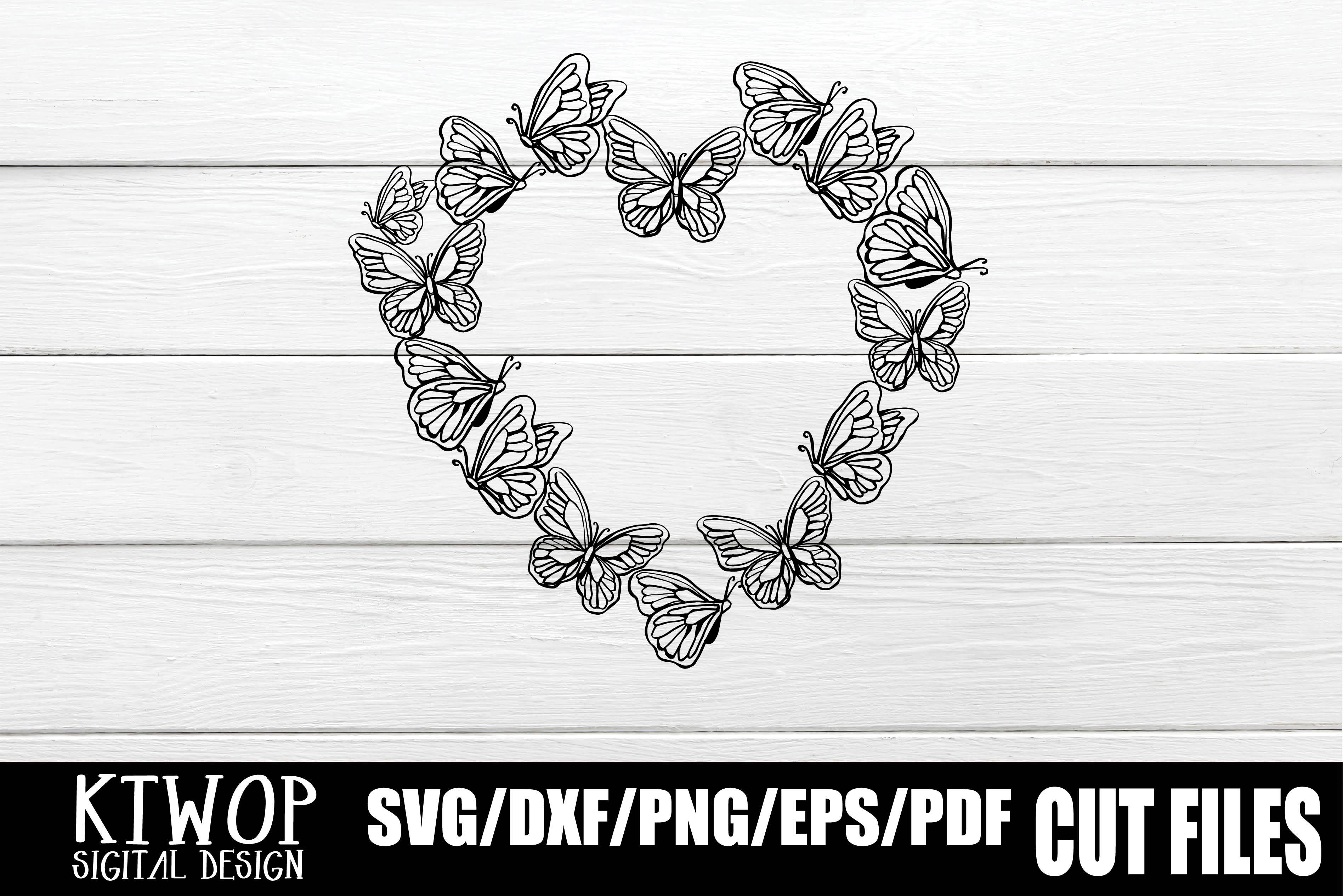Butterfly Heart Monogram Graphic By Ktwop Creative Fabrica