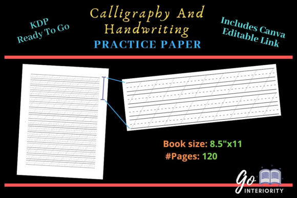 Print on Demand: Calligraphy Handwriting Practice Paper Graphic KDP Interiors By greatday