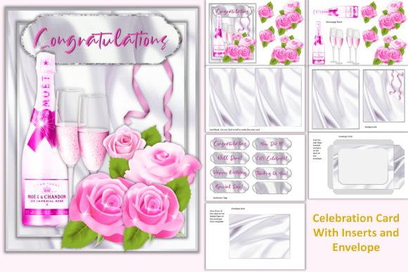 Download Free Celebration Card Kit Graphic By Digitalcraftsco Creative Fabrica for Cricut Explore, Silhouette and other cutting machines.