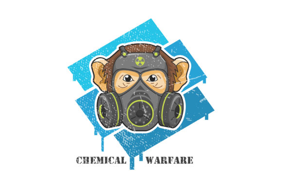 Download Free Chemical Warfare A Monkey And Mask Graphic By Contr4 Creative for Cricut Explore, Silhouette and other cutting machines.